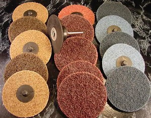 "16pc 3"" ROLL LOCKS SANDING DISC with MANDREL"