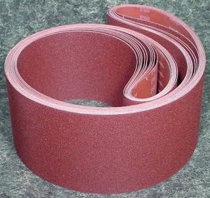 "5pc 6"" X 132"" 80 GRIT SANDING BELT Butt Joint sand paper Made in USA cloth back"